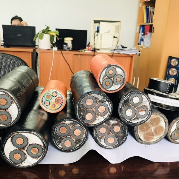 Cáp ngầm trung thế LS-VINA Cu/XLPE/PVC/DSTA/PVC 3x50 sqmm 12/20(24) kV