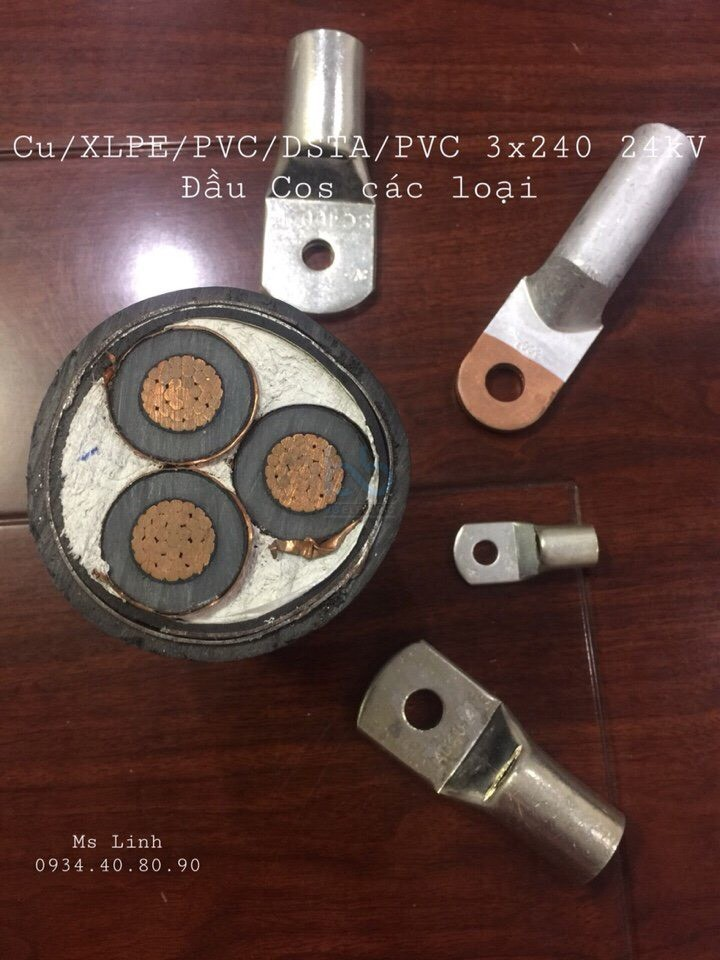 Cu/XLPE/PVC/DSTA/PVC 3x240 sqmm 12/20(24) kV - LS-VINA